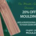 July Special: Cedar Moulding!