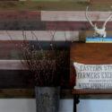 Farmhouse Cedar Stained Wall