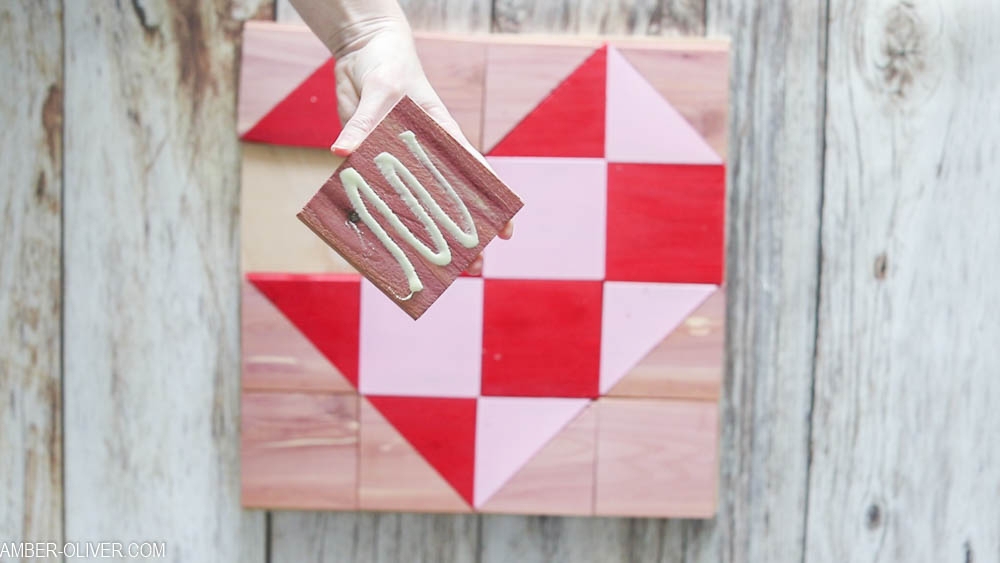 diy cedar barn quilt glue